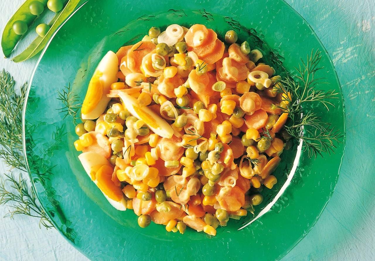 Insalata tricolore di piselli mais e carote cucina naturale for Siti di ricette cucina