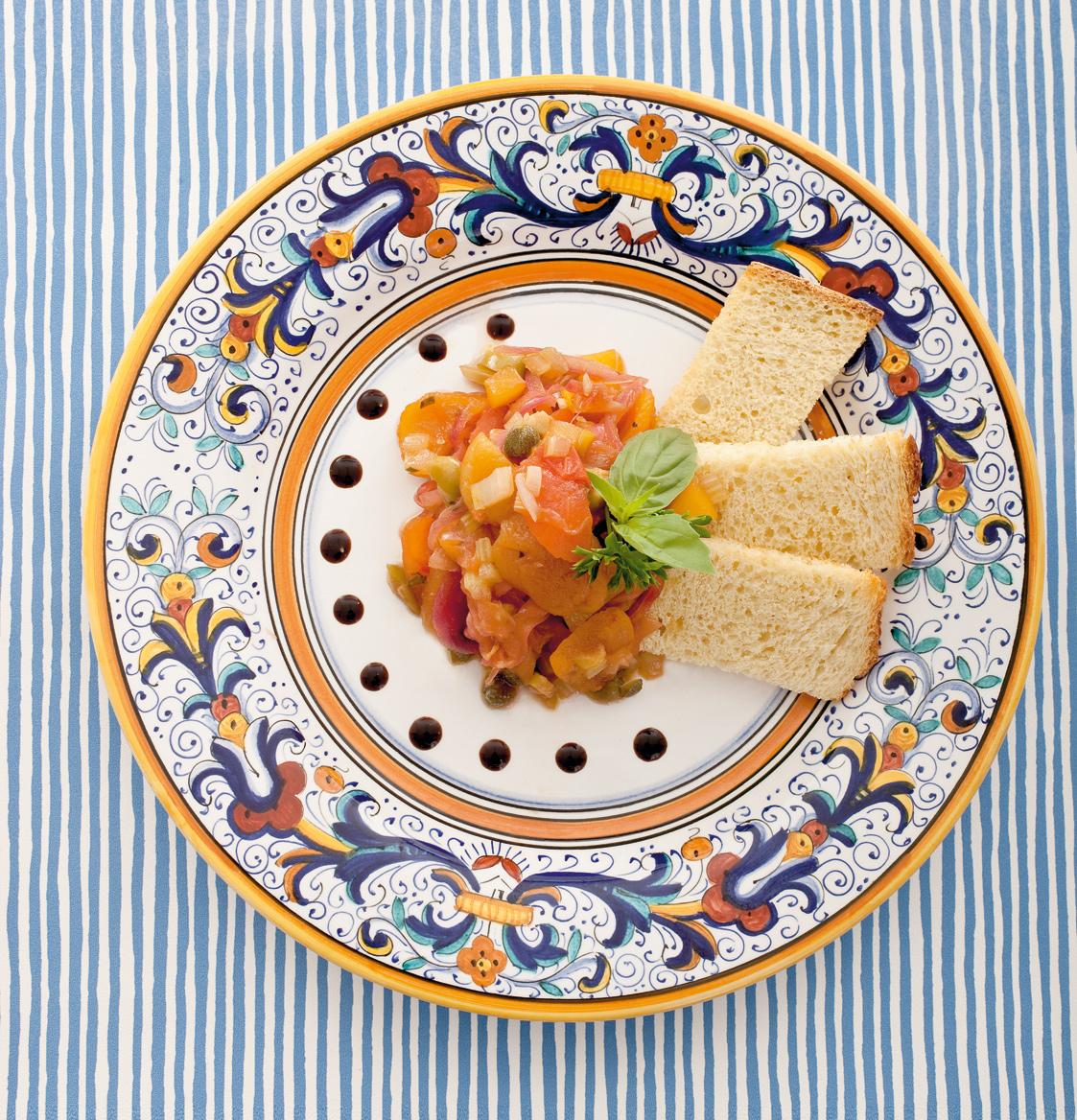 Caponata di ortaggi in agrodolce con albicocche cucina for Ortaggi estivi