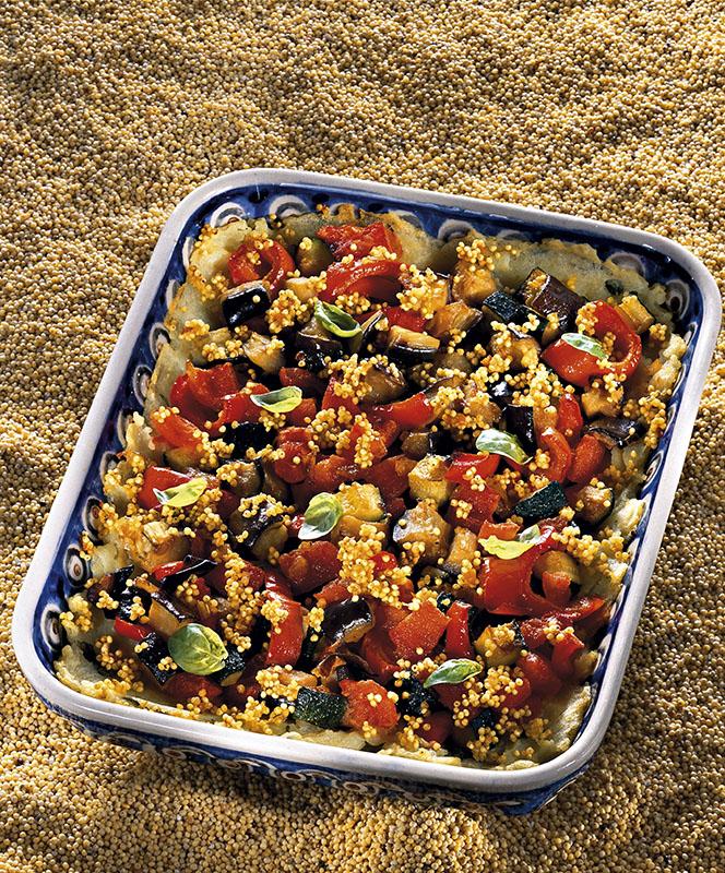 Tortino di miglio con verdure al basilico cucina naturale for Siti di ricette cucina