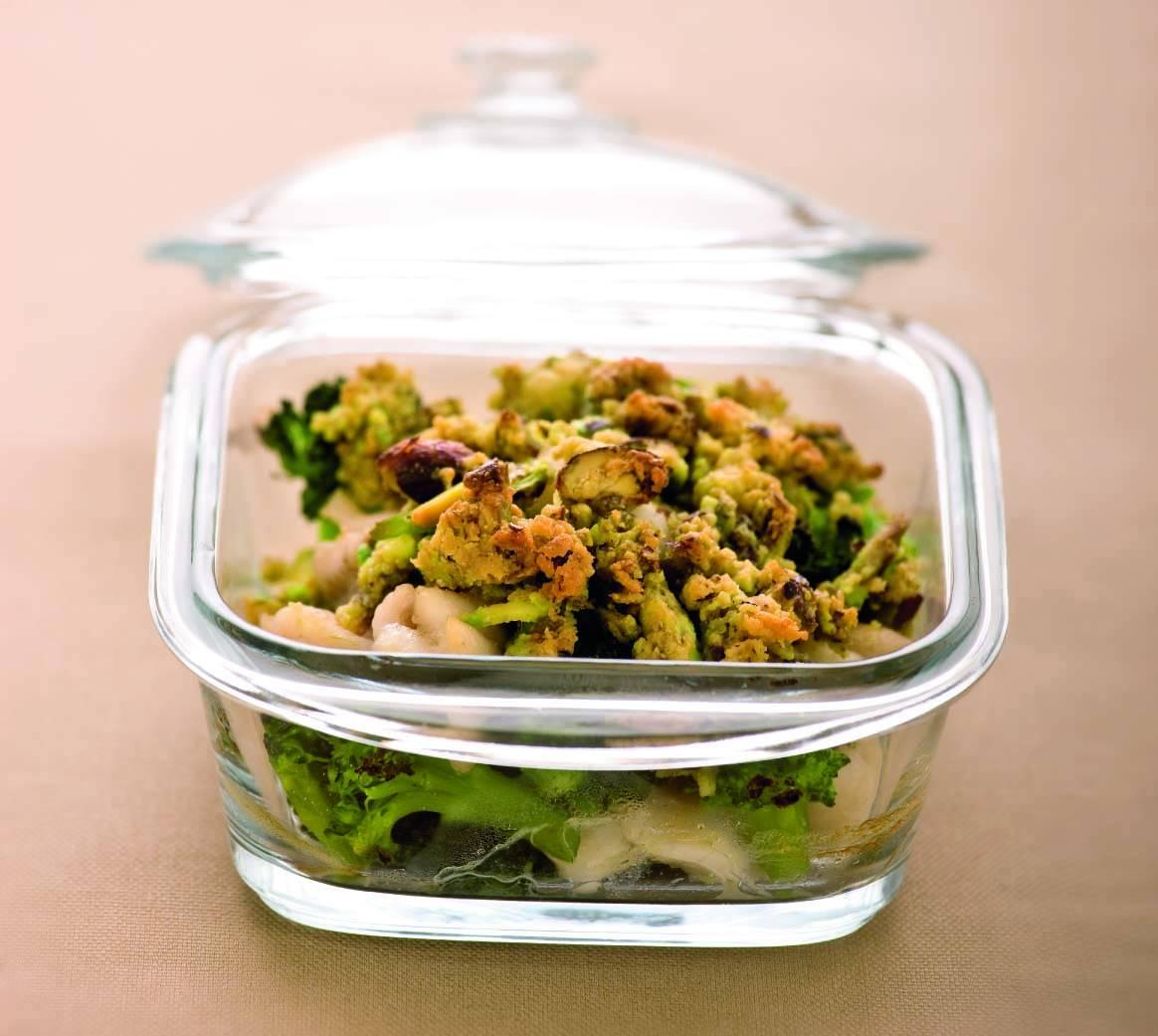 Crumble di pesce e broccoli al pistacchio - Cucina Naturale