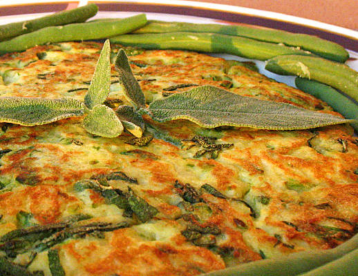 Tortino di fagiolini e patate al rosmarino e salvia - Cucinare i fagiolini ...
