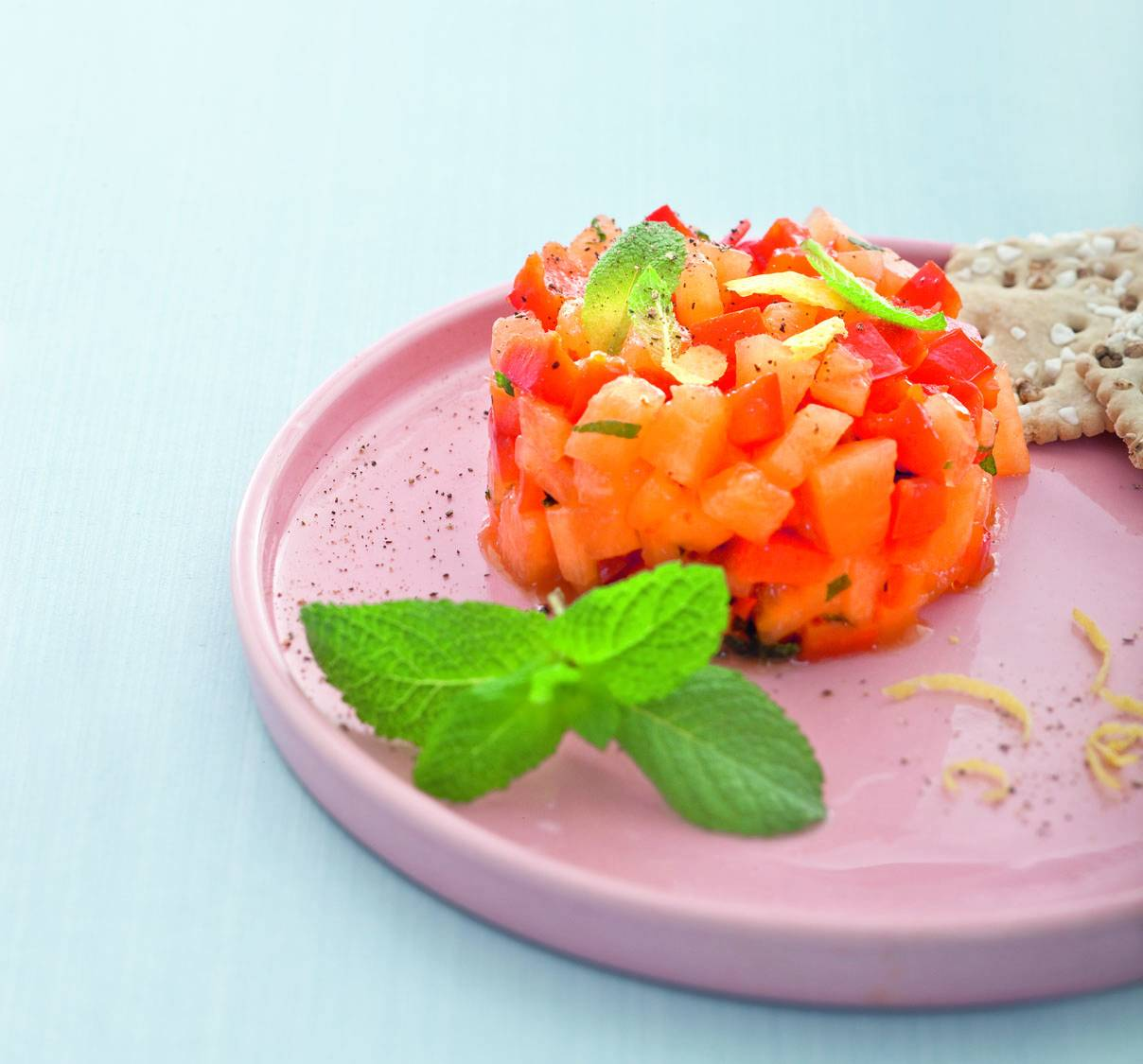 Antipasto Di Melone E Peperoni Alla Menta Cucina Naturale #C55206 1208 1125 Programma Per Creare Ricette Di Cucina