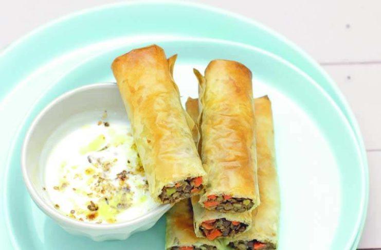 Involtini Di Pasta Fillo Con Carote E Lenticchie In Salsa Aromatica Cucina Naturale