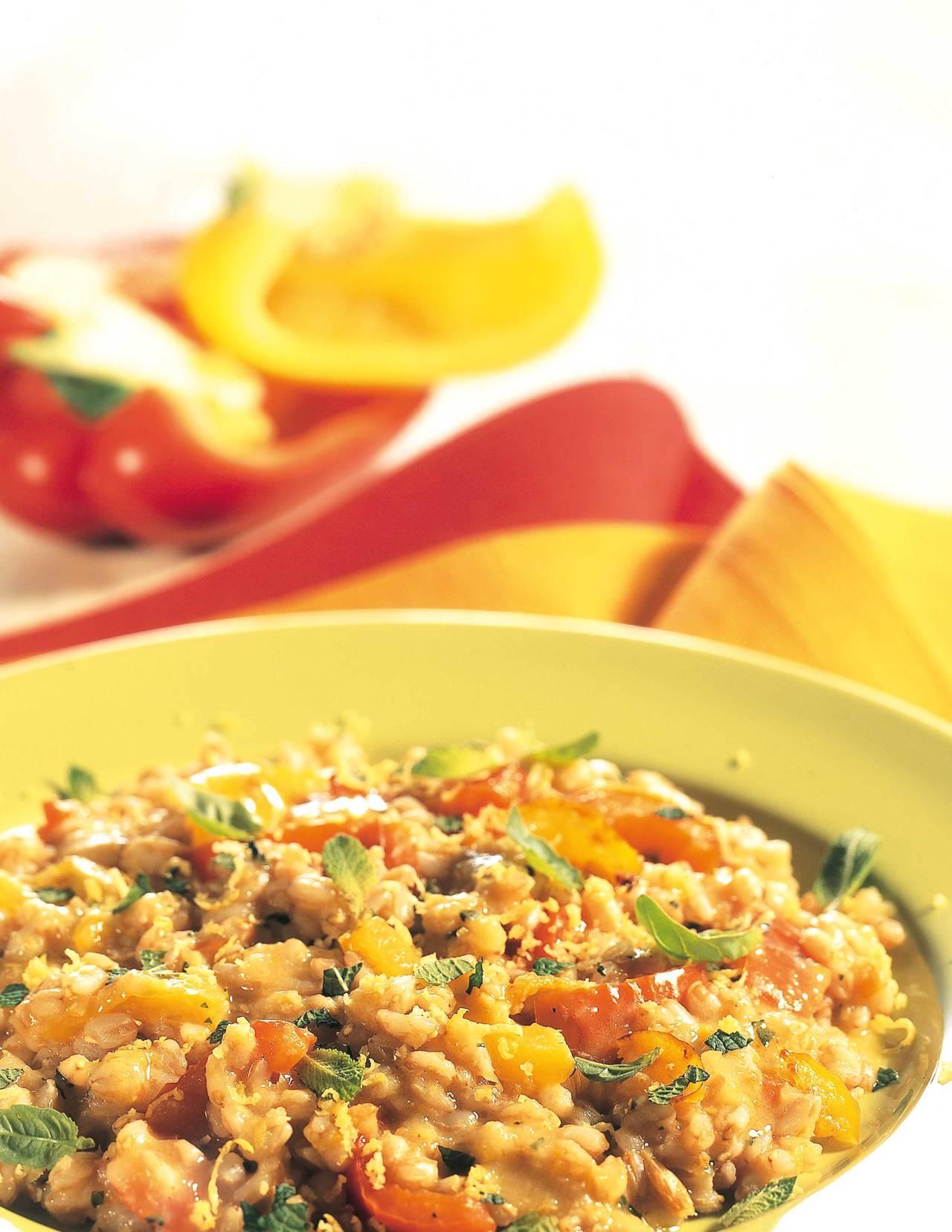 Risotto di farro e peperoni cucina naturale for Siti di ricette cucina