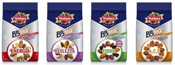 Nuovi mix di frutta secca: Energia, Bellezza, Fibra e A,C,E