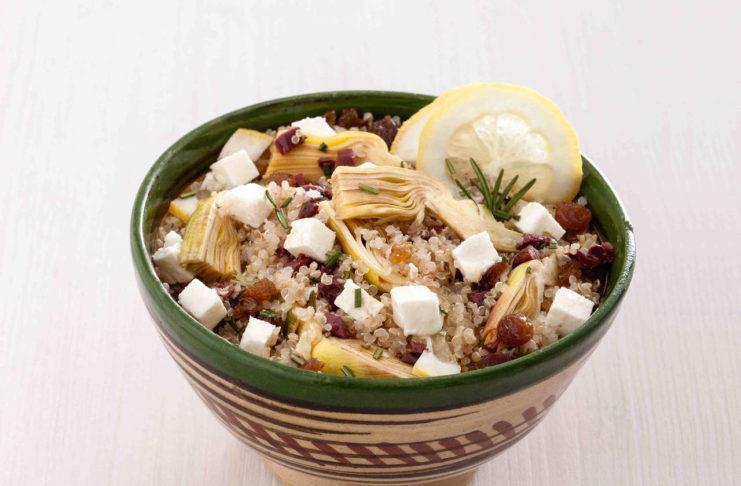Ricetta Quinoa Con Carciofi.Insalata Di Quinoa Con Carciofi Al Limone Cucina Naturale