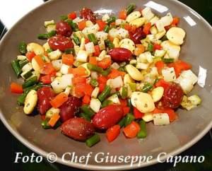 Contornata di verdure con lupini e olive 318