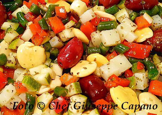 Contornata di verdure con lupini e olive 518