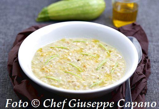 Crema di patate e zucchine con orzo all'olio d'oliva 518