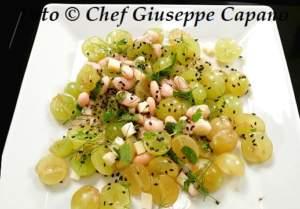 Antipasto veloce con uva, fagioli e formaggio 518