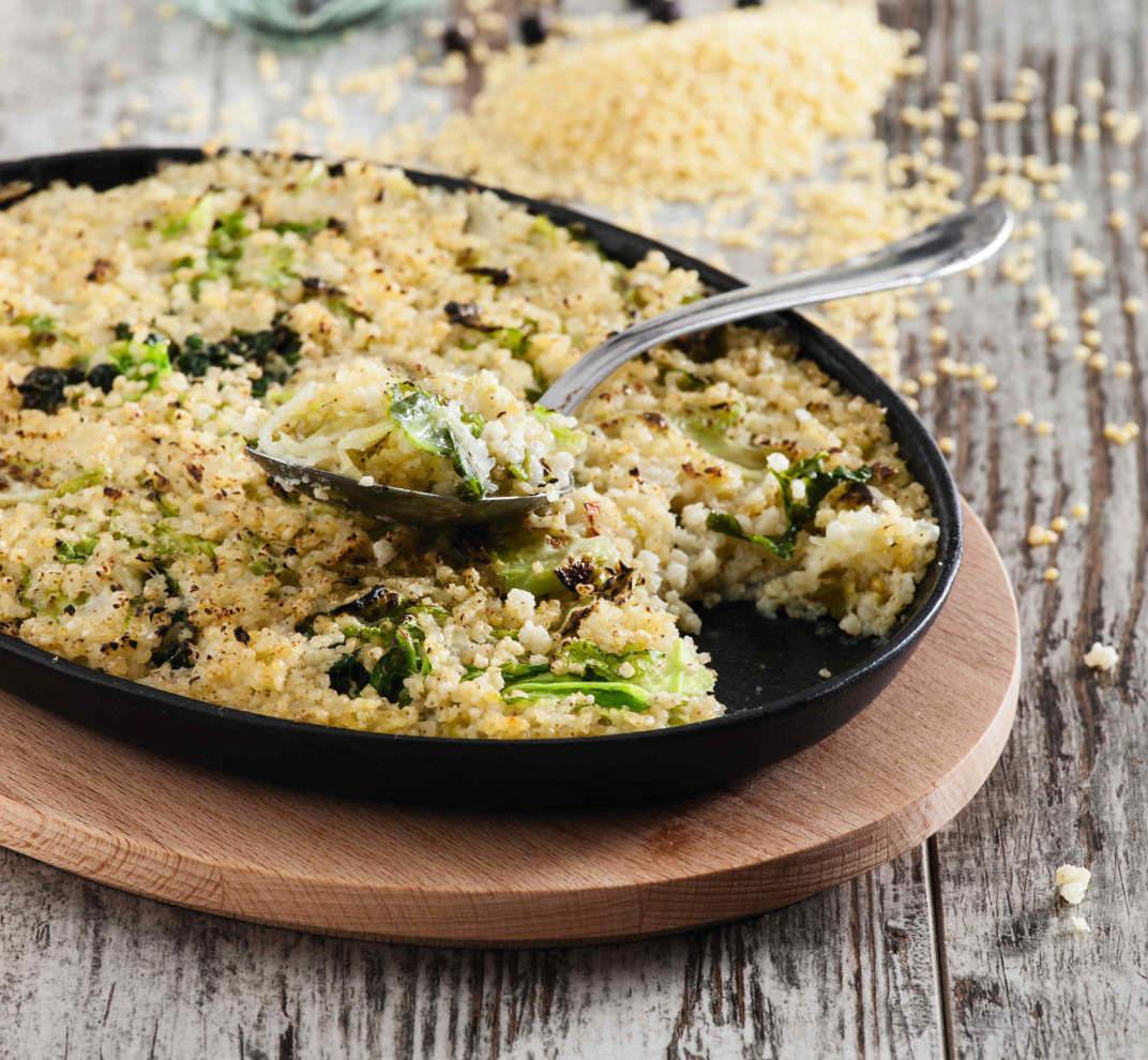 Gratin di miglio e cavolo verza cucina naturale for Cucinare miglio