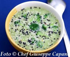 Crema vellutata con sedano rapa e broccoletti al peperoncino 318