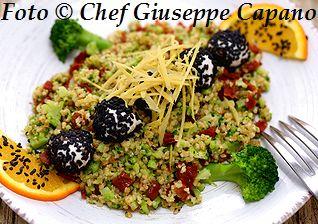 Broccoletti, bulgur e pomodori secchi con mozzarella 318