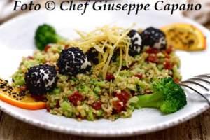 Broccoletti, bulgur e pomodori secchi con mozzarella 518