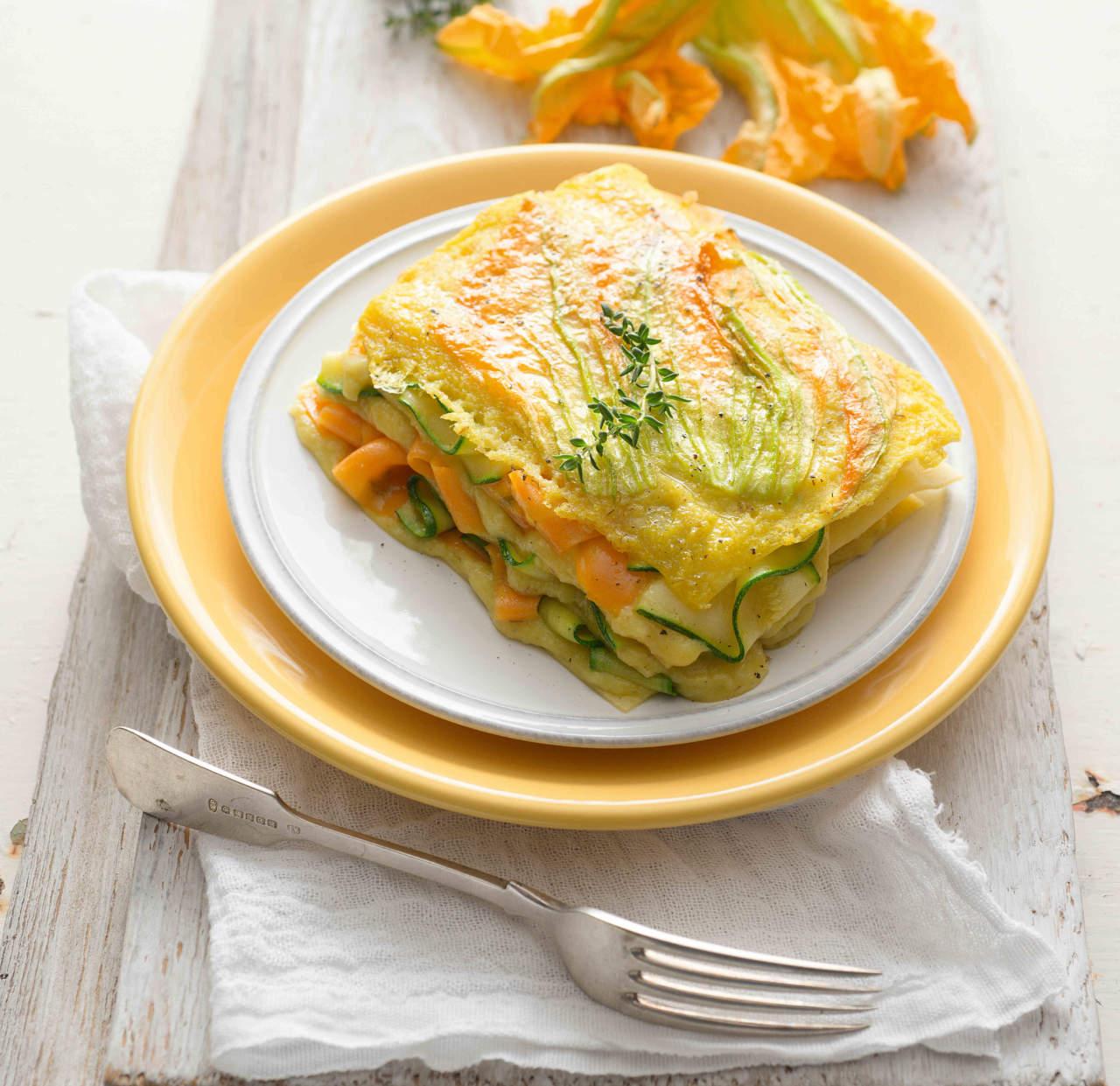 Ricetta Lasagne Di Zucca.Lasagne Vegetariane Lasagne Ai Fiori Di Zucca