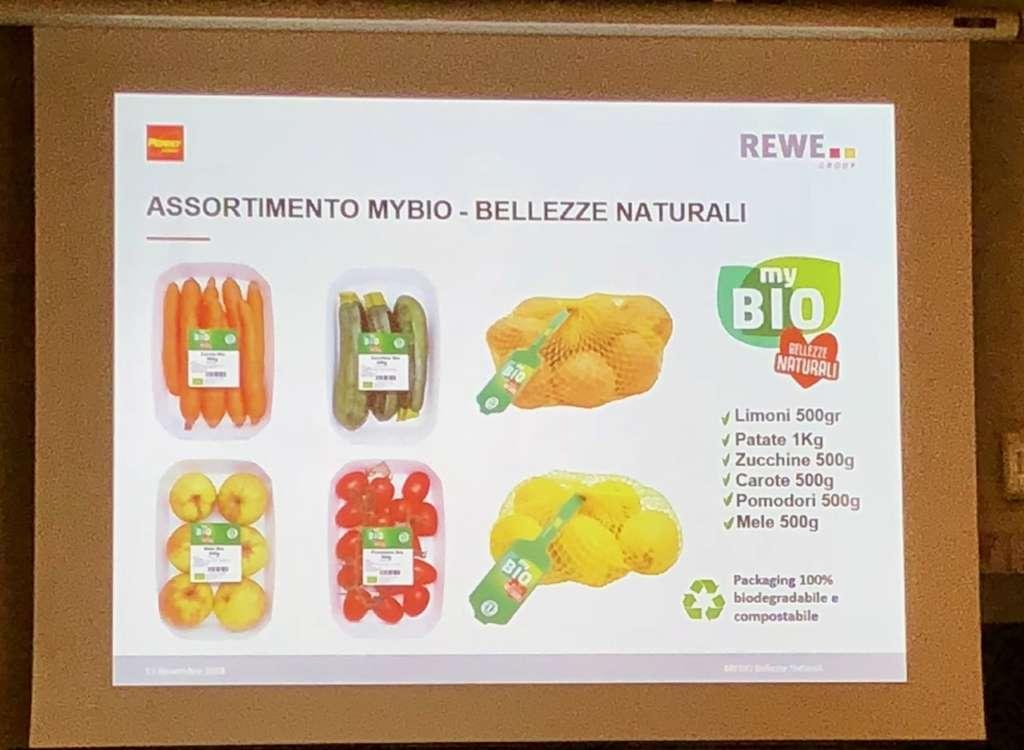L'assortimento di frutta e ortaggi bio