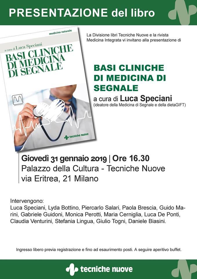 """Luca Speciani presenta """"Basi cliniche di Medicina di Segnale"""""""
