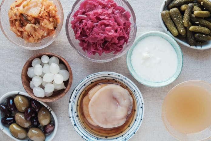 Varietà di alimenti fermentati