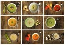 zuppe preparate con diversi ortaggi
