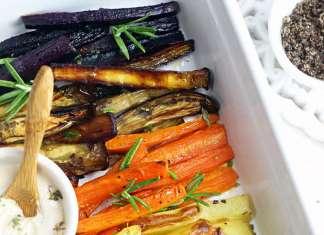 Patatine e verdurine al forno