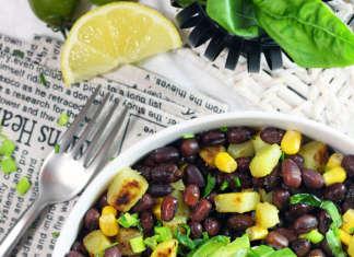 Insalata di legumi, patate e mais
