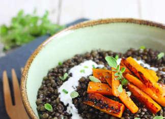 lenticchie con carote e yogurt