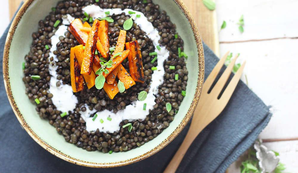 lenticchie carote e yogurt