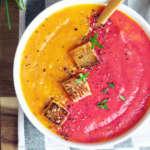 vellutata di carote bicolor