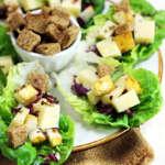 insalata di lattughino, pere, formaggio