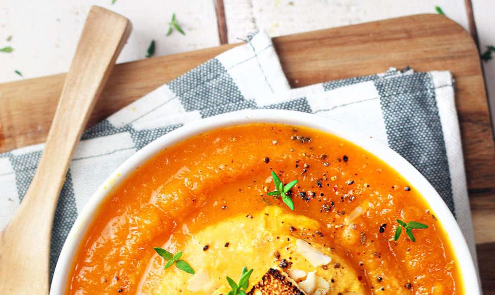 vellutata di carote e mandorle