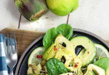 Insalata di carciofi e avocado