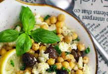 Insalata di ceci, olive e cavolfiore