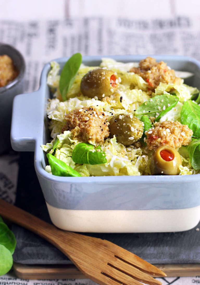Insalata di verza in crema di olive
