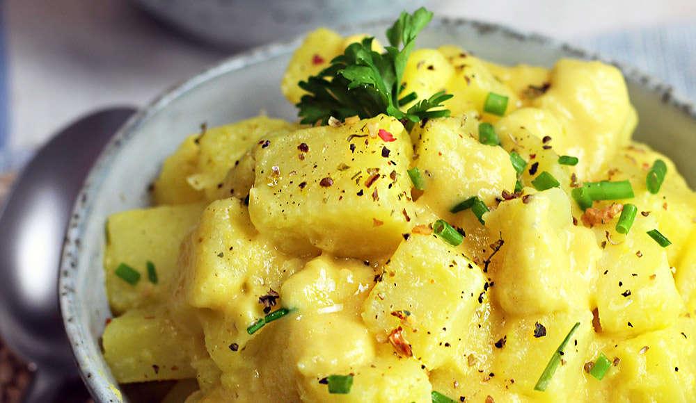 Patate con maionese vegan
