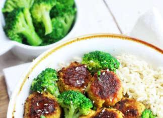 Riso con broccoli e polpette: vegan senza glutine