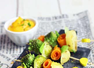 Spiedini vegani di verdure autunnali e invernali
