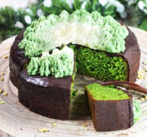 Torta verde vegan e senza glutine