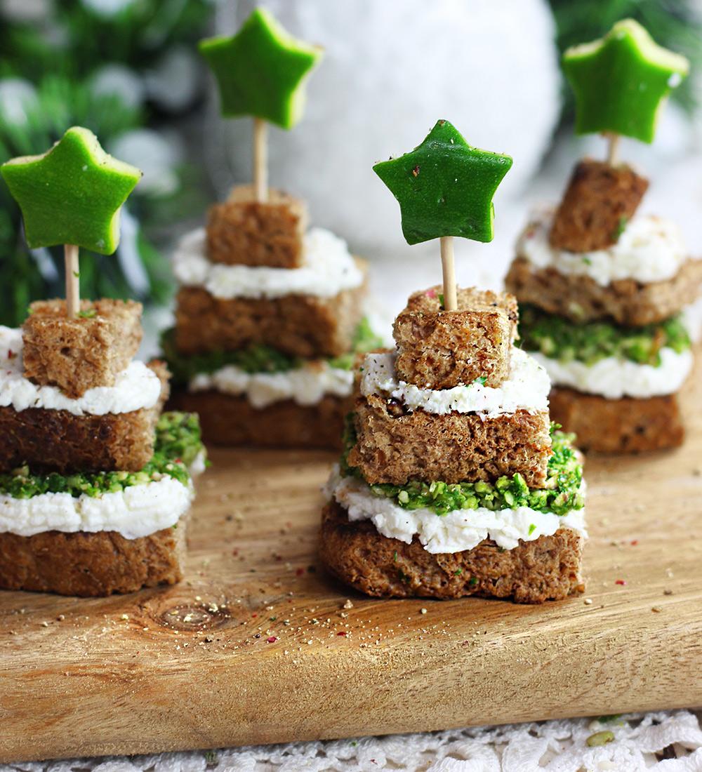 Antipasti Di Natale Alberelli.Alberelli Di Natale Con Pane E Pistacchi Cucina Naturale