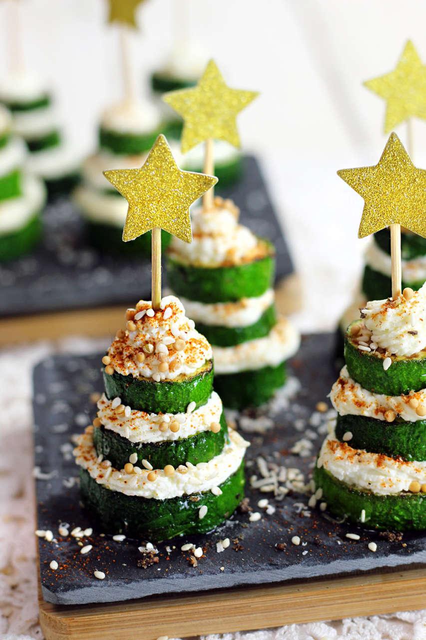 Antipasti Di Natale Foto.Alberelli Di Zucchine Antipasto Di Natale Cucina Naturale