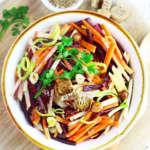 insalata colorata di carote e mela