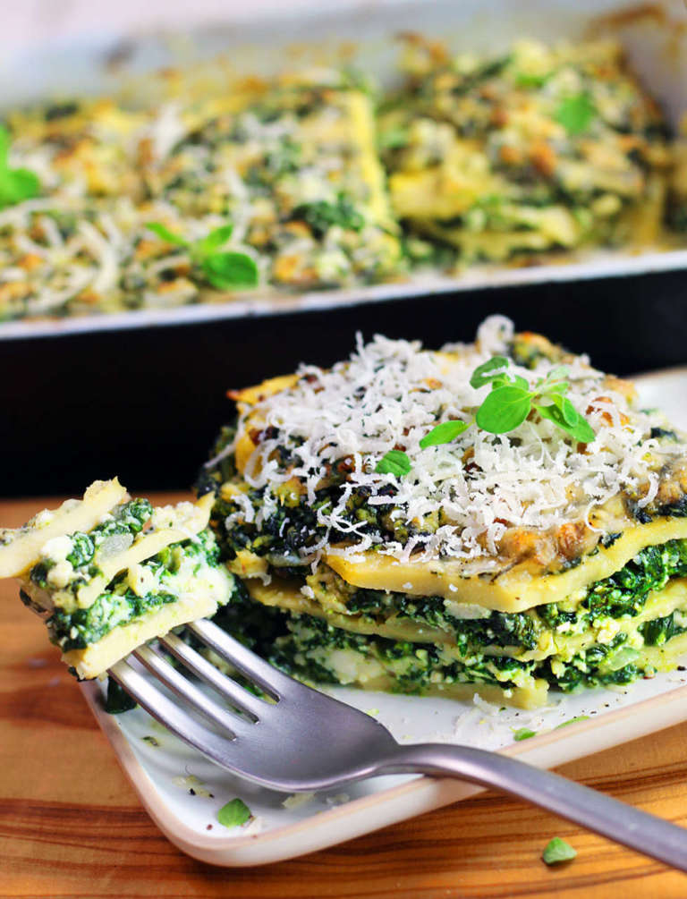Lasagne di ceci vegan senza glutine