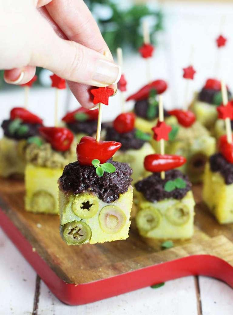 Fingerfood polenta olive