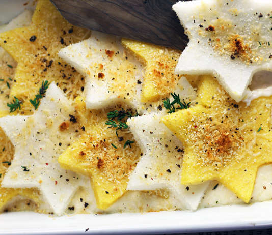 Stelle di polenta, primo delle feste