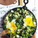 Coste e broccoli con uova