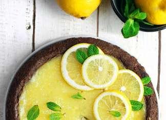 Crostata senza burro con crema di limone
