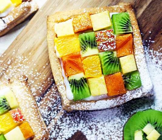 Crostatine di frutta vegan con crema