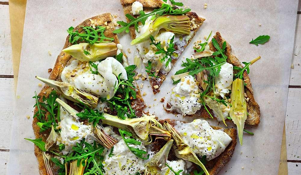 Pizza integrale senza lievito