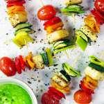 Spiedini colorati di verdure