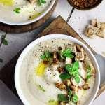 Zuppa di cavolfiore e cipolle