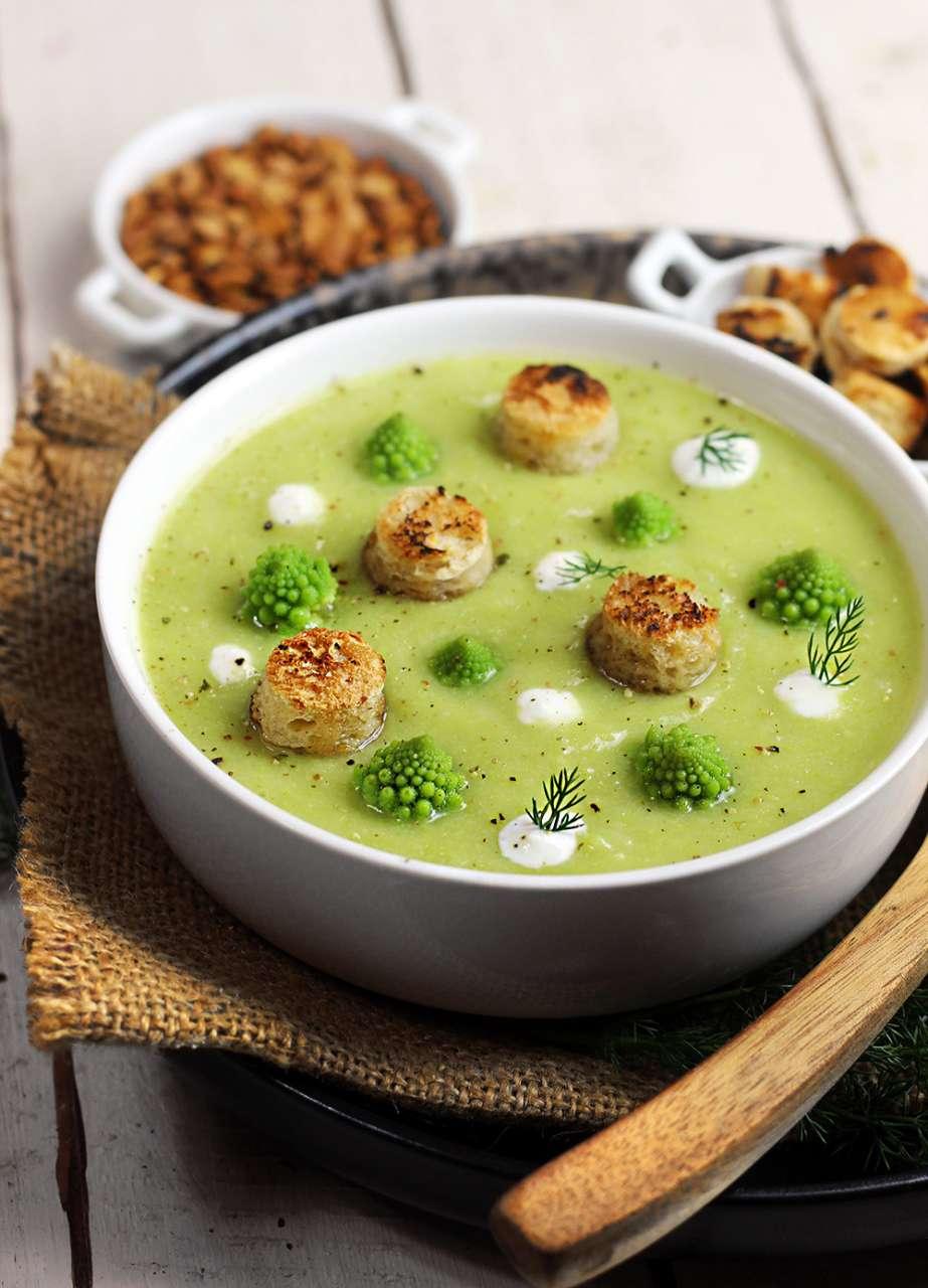 Ricetta Zuppa Broccoli.Vellutata Veloce Di Broccolo Romano Cucina Naturale
